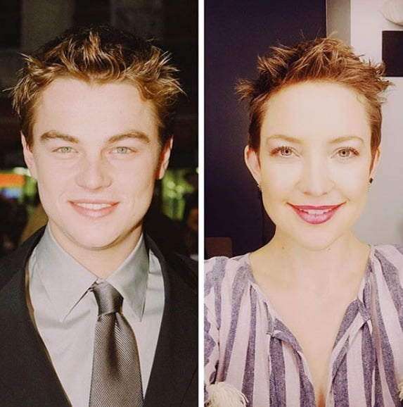 Hudson inspired by DiCaprio's 1990s' hairdo