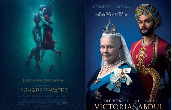 THE SHAPE OF WATER, VICTORIA & ABDUL nominated for BAFTA 2018