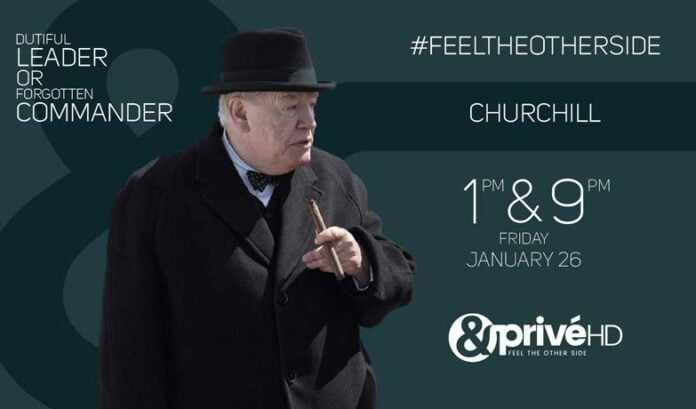 Catch the Indian television premiere of CHURCHILL on &Privé HD