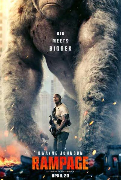 Dwayne Johnson's RAMPAGE to release in India in April