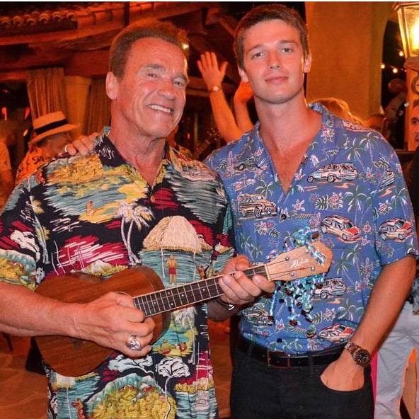 What is action star Arnold Schwarzenegger's advice to his son Patrick?