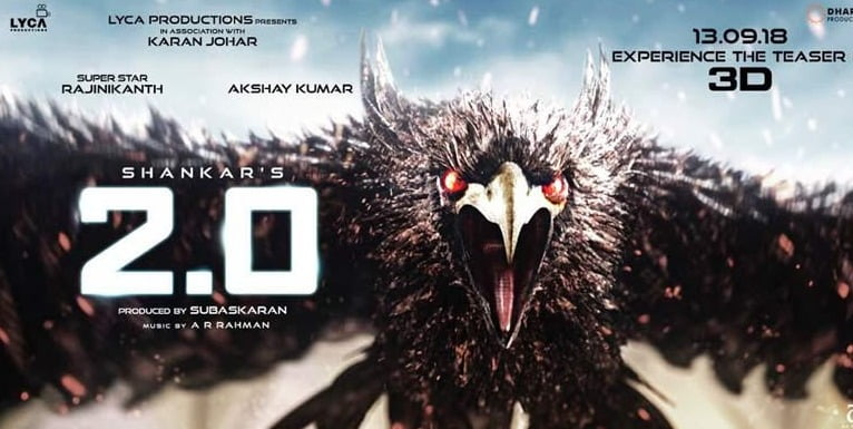 Teaser of Rajinikanth's 2.0 to release this week