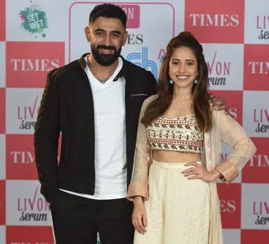 Amit Sadh and Nushrat Bharucha spotted at the launch of Livon Times Fresh Face, season 11
