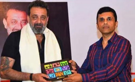 Sanjay Dutt interacts with the students of Ahmedabad Management Association