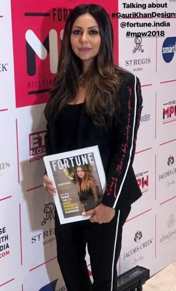 Gauri Khan felicitated at Fortune India's 50 Most Powerful Women in a business event!