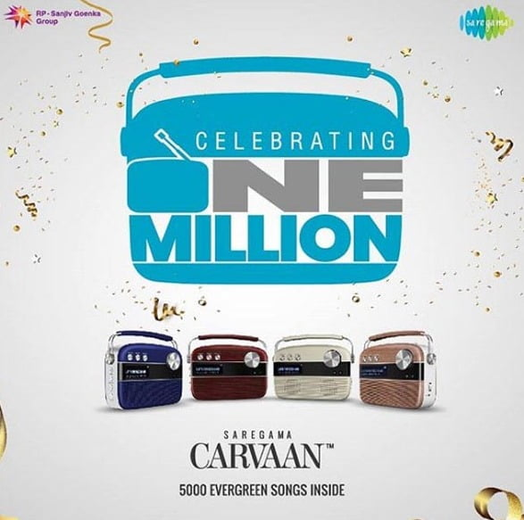 Saregama hits the 1 Million Mark for the sale of Carvaan