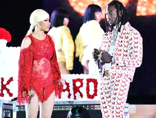Offset crashes in the middle of Cardi B's live performance