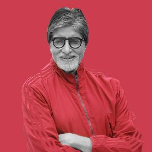 Big B gets a surprise from his grandson