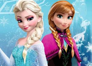Elsa and Anna characters from 'Frozen' comes to life