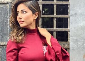 Hina Khan sizzles in red hot dress