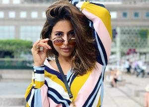 Hina Khan's latest fashion outing in an orange outfit