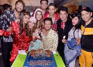 Team Housefull 4 hosts a special screening with a Pyjama party theme!