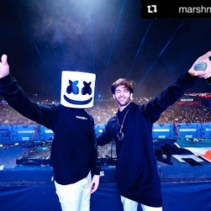 DJ Marshmello finds a buddy post his Pune performance