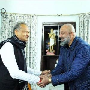 Sanjay Dutt shares a picture with Honorable Chief Minister of Rajasthan, Mr Ashok Gehlot!