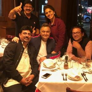 Rishi Kapoor meets 102 NOT OUT team in US