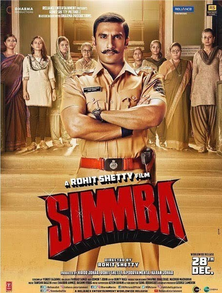 SIMMBA Movie Review : Ranveer Singh excels in the entertainer of the year