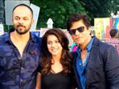 Friends Forever: 'Dilwale' Shah Rukh Khan & Kajol snapped with Rohit Shetty