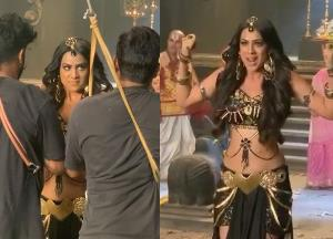 Naagin 4: Nia Sharma shares a funny BTS video while fighting with the goons