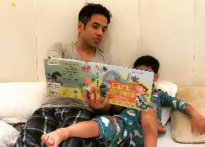 Tusshar Kapoor shared an adorable picture of his son Laksshya