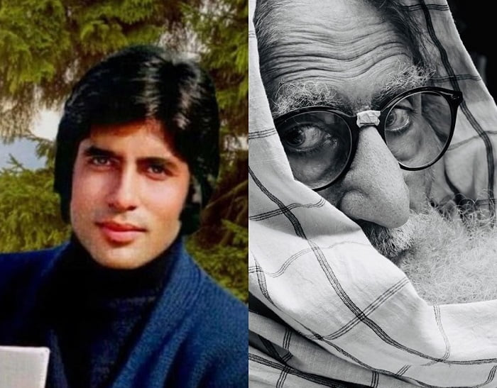 Amitabh Bachchan shares photos from sets of Kabhi Kabhie and Gulabo Sitabo on Instagram