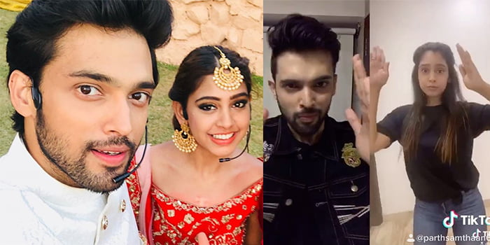 Parth Samthaan is learning dance steps from Niti Taylor