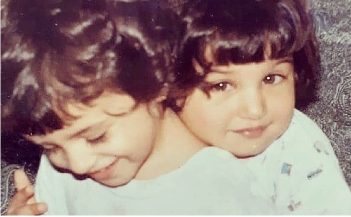 Bollywood actress Tara Sutaria has shared a throwback picture with her sister Pia Sutaria from their childhood on Instagram.