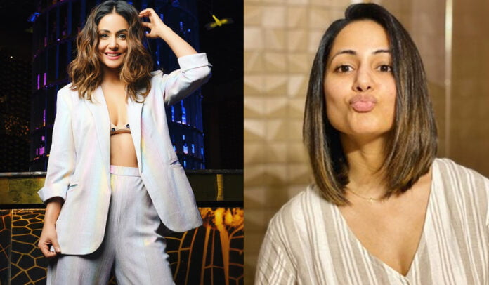 Hina Khan surprises fans with a new quarantine haircut look
