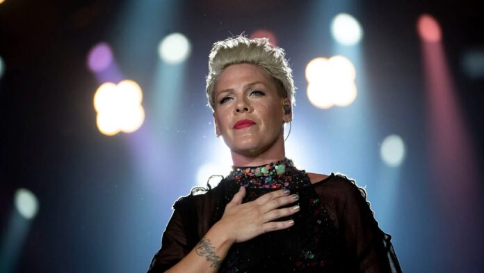 Pink says she suffered a