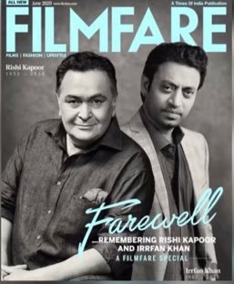 Rishi Kapoor and Irrfan Khan in their latest cover