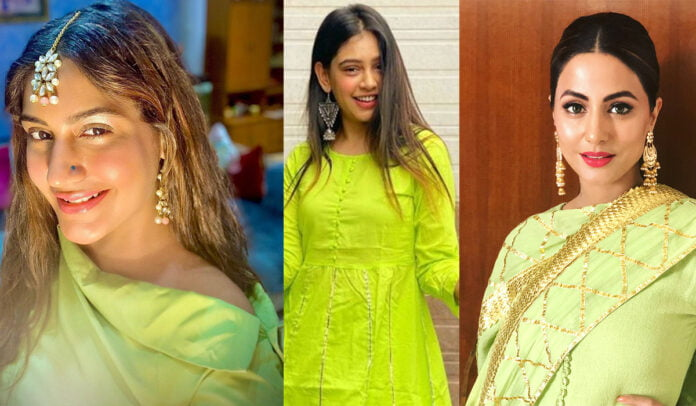 Surbhi Chandna, Niti Taylor, Hina Khan and other celebs rocking in shades of Green outfits
