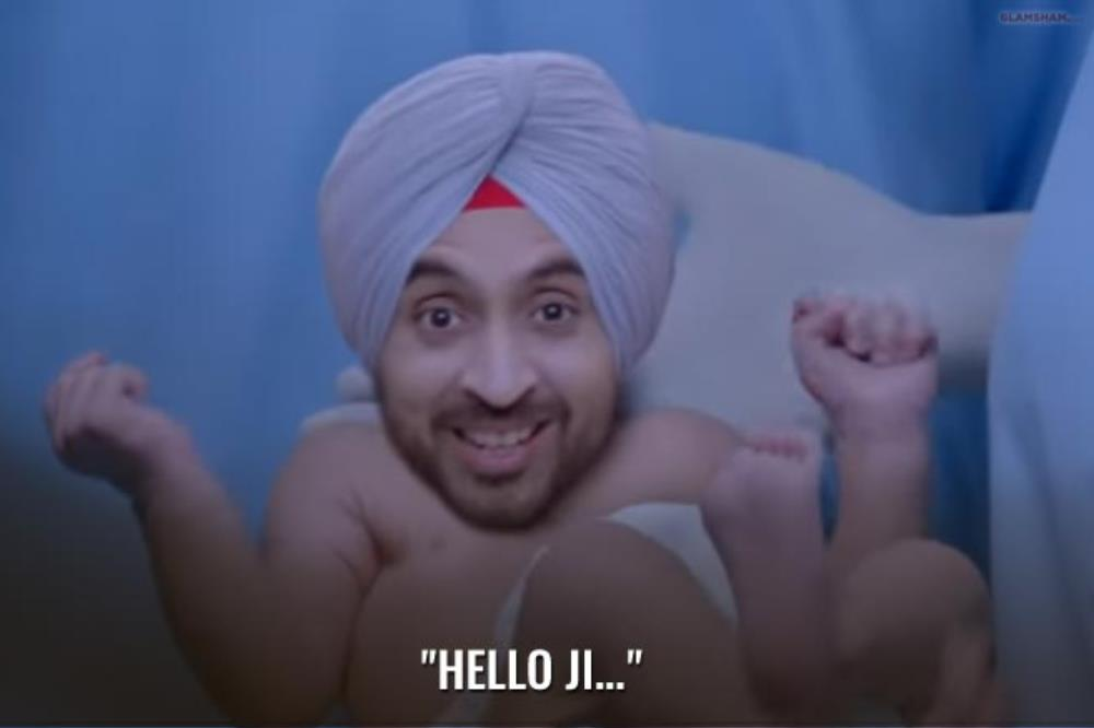 This is not a dialogue but we love Diljit Dosanjh's face.