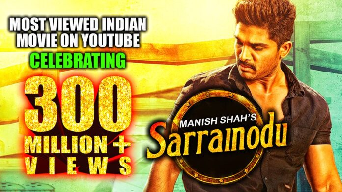 Allu Arjun's Sarrainodu becomes the first Hindi-dubbed film to cross over millions on YouTube