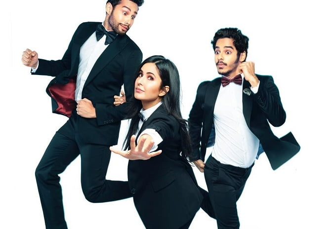 Phone Bhoot poster Katrina Kaif, Ishaan Khatter and Siddhant Chaturvedi triple trouble in Bhoot World as they solve ghost-related problems