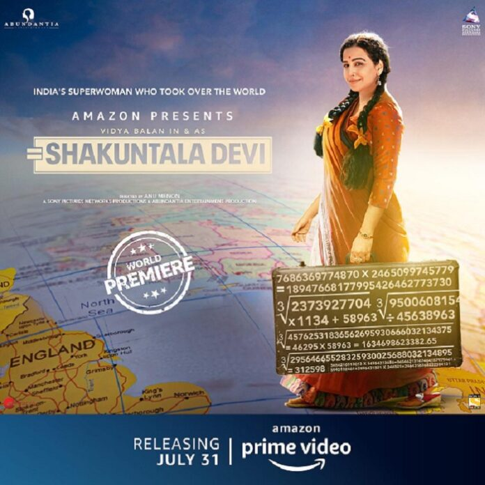 Vidya Balan in Shakuntala Devi on Amazon Prime Movie Review