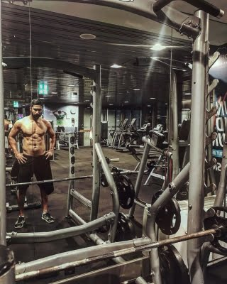 Vicky Kaushal at a gym