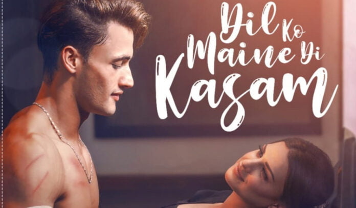 'Dil Ko Maine Di Kasam' poster Asim Riaz and Himanshi Khurana look sizzling hot in the poster