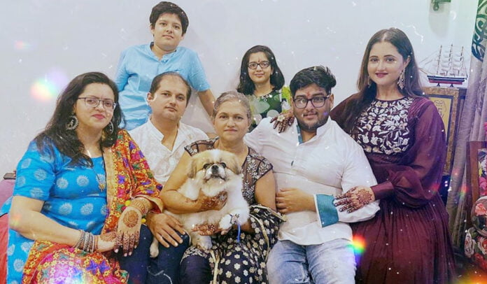 Happy Raksha Bandhan Rashami Desai shares festive pictures with family and it is all cute