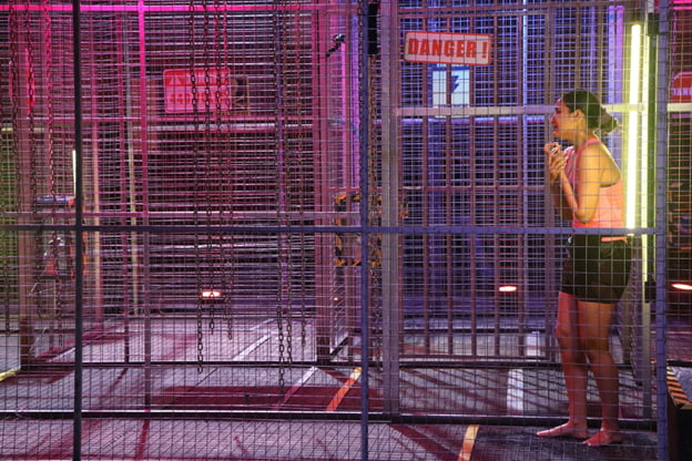 Jasmin Bhasin in an electric cage