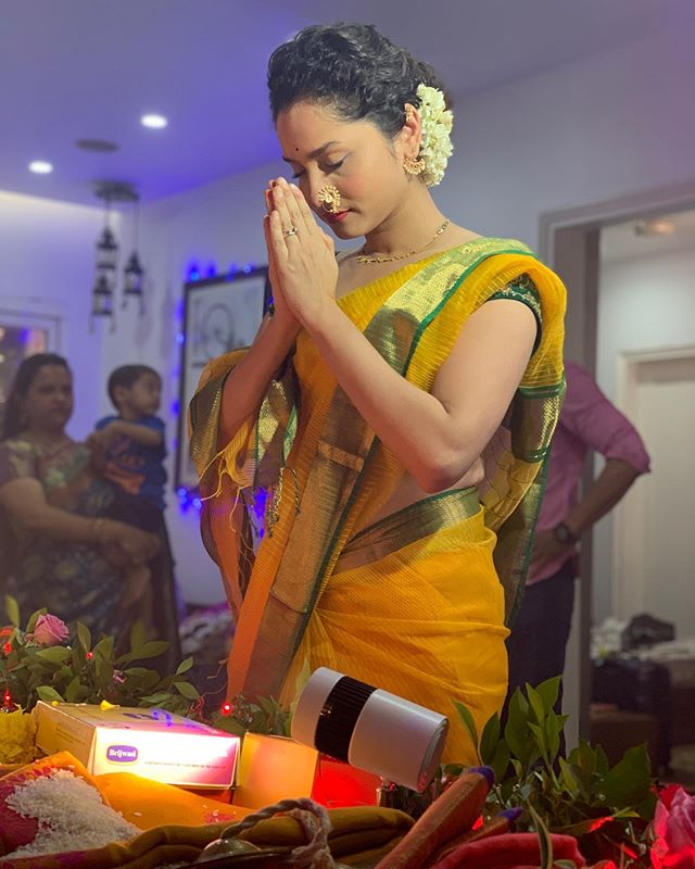 Ankita Lokhande praying Lord Ganpati