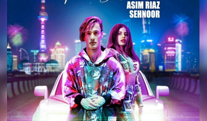 Asim Riaz and Sehnoor's new retro song poster Badan Pe Sitara is out and looks refreshing