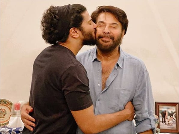 Dulquer Salmaan with Mammootty