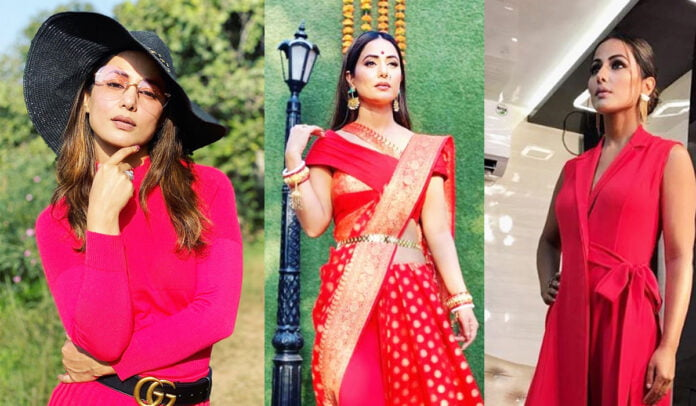 Happy Birthday Hina Khan slaying in Red hot outfits
