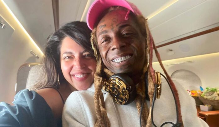 Lil Wayne and girlfriend Denise Bidot give us major couple goals in cute birthday pic