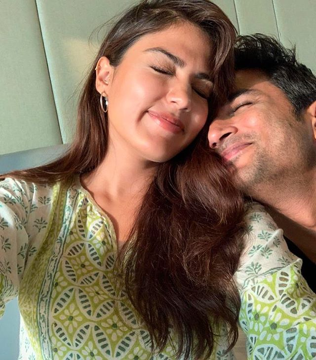 Rhea Chakraborty with Sushant Singh Rajput in an Instagram Post