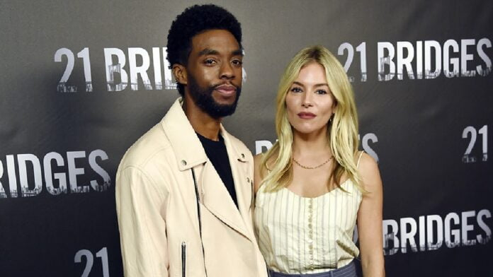 Sienna Miller reveals Chadwick Boseman donated part of his salary to her