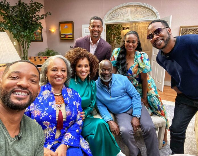 Will Smith joins 'The Fresh Prince of Bel-Air' cast for an emotional reunion