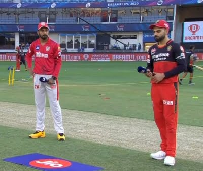 RCB win toss, choose to bowl first against KXIP