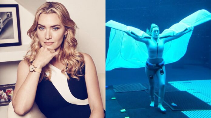 Avatar 2: Kate Winslet spreads her wings in an underwater shoot
