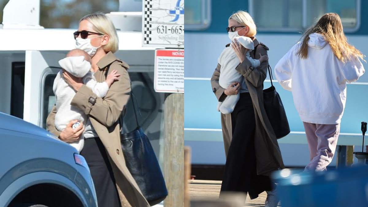 Michelle Williams steps out for the first time with her second child
