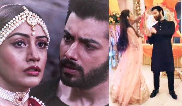 Naagin 5 Sharad Malhotra and Surbhi Chandna giving VAni vibes with their sizzling chemistry by playing Garba
